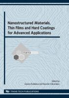 Nanostructured Materials, Thin Films and Hard Coatings for Advanced Applications