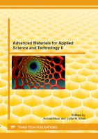 Advanced Materials for Applied Science and Technology II