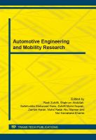 Automotive Engineering and Mobility Research