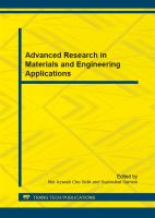 Advanced Research in Materials and Engineering Applications