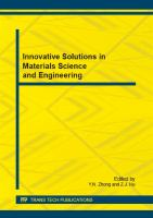 Innovative Solutions in Materials Science and Engineering