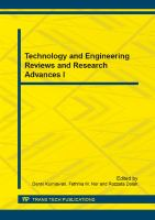 Technology and Engineering Reviews and Research Advances I