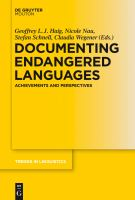Documenting Endangered Languages