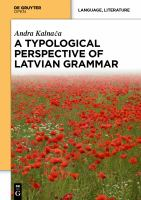 A Typological Perspective on Latvian Grammar