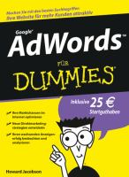 Google AdWords fur Dummies