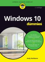 Windows 10 for Dummies
