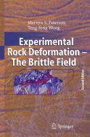 Experimental Rock Deformation--the Brittle Field
