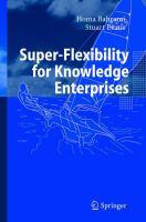 Super-flexibility for Knowledge Enterprises