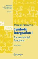 Symbolic Integration I