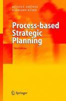 Process-based Strategic Planning