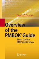 Overview of the PMBOK® Guide