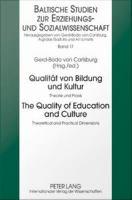 Qualität Von Bildung Und Kultur