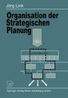 Organisation der strategischen Planung