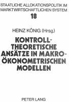 Kontrolltheoretische Ansätze in makroökonometrischen Modellen