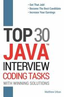 Top 30 JAVA Interview Coding Tasks With Winning Solutions