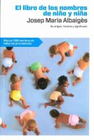 El libro de los nombres de niño y de niña