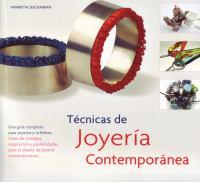 Tecnicas de joyeria contemporanea