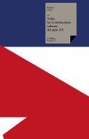 Todas las constituciones cubanas del siglo XX