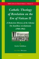 Catholic Theology of Revelation on the Eve of Vatican II