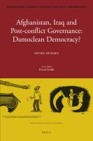 Afghanistan, Iraq and Post-conflict Governance