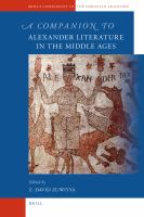 Companion to Alexander Literature in the Middle Ages