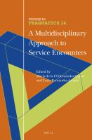 A Multidisciplinary Approach to Service Encounters