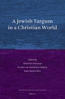 A Jewish Targum in A Christian World