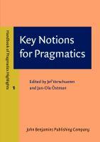 Key Notions for Pragmatics