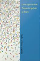 Corpus Linguistics at Work
