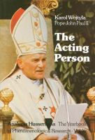 The Acting Person By Cardinal Karol Wojtya