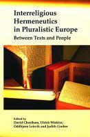 Interreligious Hermeneutics in Pluralistic Europe
