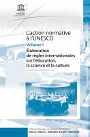 L'action normative a l'UNESCO