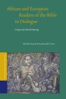 African and European Readers of the Bible in Dialogue