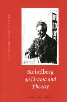 Strindberg on Drama and Theatre