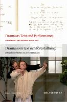 Drama as Text and Performance