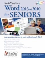 Word 2013 and 2010 for Seniors