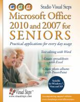 Microsoft Office 2010 and 2007 for Seniors