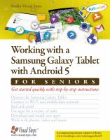 Working With A Samsung Galaxy Tablet 5 for Seniors