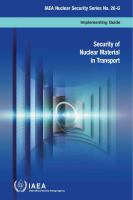 Security of Nuclear Material in Transport