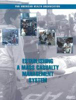 Establishing A Mass Casualty Management System