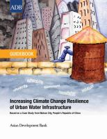 Increasing Climate Change Resilience of Urban Water Infrastructure