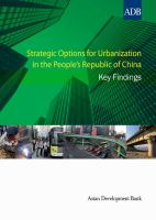 Strategic Options For Urbanization In The People's Republic Of China