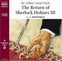 The Return of Sherlock Holmes III