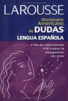 Diccionario Americano de Dudas lengua española