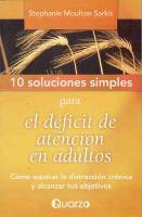 10 soluciones simples para el déficit de atención en adultos