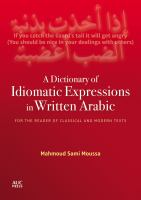 A Dictionary of Idiomatic Expressions in Written Arabic