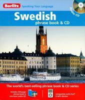 Swedish Phrase Book & CD