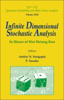Infinite Dimensional Stochastic Analysis