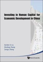 Investing in Human Capital for Economic Development in China