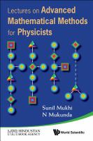 Lectures on Advanced Mathematical Methods for Physicists